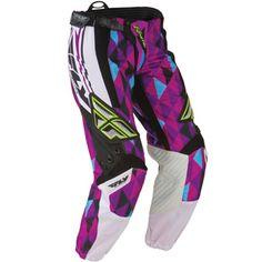 Fly Racing Unisex-Adult Kinetic Womens Race Pants Pink//Purple, Size 56