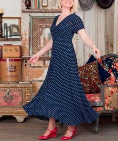 Navy Melinda Dress #zulily #zulilyfinds