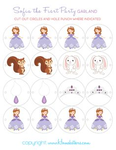 Courtney LOVES Sofia the First.  Carson even likes her.  Ah heck, so do I.  So when I decided to put together a set of Free Party Printables for our readers, I decided to go ahead and do a Sofia th…