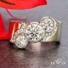 Start your happily ever after on a sweet note with this forever brilliant moissanite engagement ring set from Camellia Jewelry. Scrupulously handmade in fine detail, it is a unique moissanite wedding ring set that will show her how much you care without b Wedding Rings Vintage, Vintage Engagement Rings, Vintage Rings, Wedding Jewelry, Vintage Diamond, Unique Vintage, Engagement Ring Cuts, Rose Gold Engagement Ring, Diamond Wedding Bands