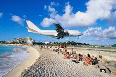 St. Marteen Jet Blast Beach