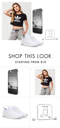 """Music & Chill"" by infinite-xoxo on Polyvore featuring adidas, NIKE and Happy Plugs"