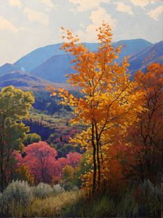 Landscape painting by Douglas Aagard #LandscapePaintings