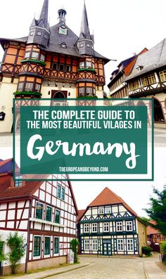 Find out which historic villages a worth a visit along Germany's stunning Framework Road. More: http://toeuropeandbeyond.com/the-complete-guide-to-the-german-framework-road/ #travel #Germany