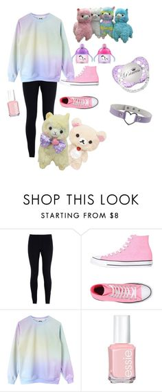 """Little space ddlg"" by little-space ❤ liked on Polyvore featuring NIKE, Converse, Essie, women's clothing, women, female, woman, misses and juniors"