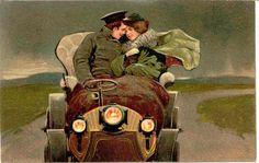 """"""" A Gentle Embrace """" Vintage PFB Post Card. Karodens Vintage Post Cards."""