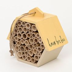Peace on Earth, goodwill to pollinators (and the people who love them). A stylish home for solitary bees, which settle in small cavities. $26