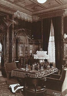 Victorian Sitting Rooms | Sitting room at 2 East 57th Street NYC, townhouse owned by Harry Payne ...