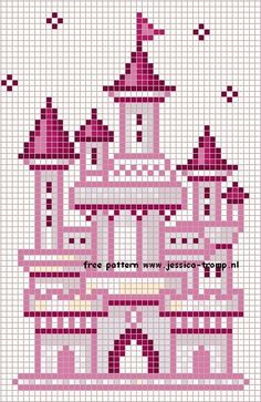 This would be so sweet in a baby girl's room.or why not a blue one for a boy? by liza Cross Stitch Charts, Cross Stitch Designs, Cross Stitch Patterns, Cross Stitching, Cross Stitch Embroidery, Hand Embroidery, Modele Pixel Art, Crochet Disney, Christmas Embroidery Patterns