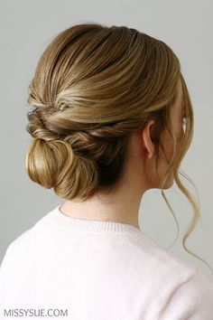 Twisted Knot Low Bun | Missy Sue