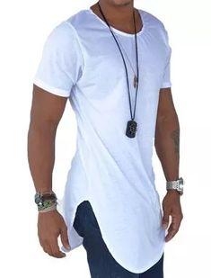 camisa oversized masculina longline promocional