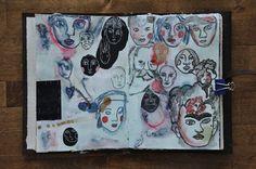 Dans mon crâne: Standing in the Ruins || art journal spreads