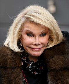 Joan Rivers: Shocking Celebrity Plastic Surgery Disasters- she looks like The Joker from Batman