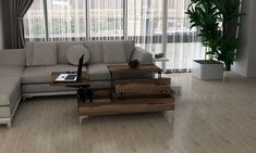 Cazibe Coffee Table with Storage