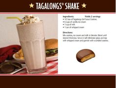 Hand out this recipe card to guests who buy a whole case of Tagalongs®!