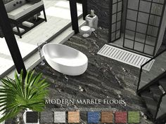 Sims 4 CC's - The Best: Modern Marble Floors by Pralinesims