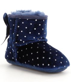 Shop for UGG® Girls´ Jesse Bow Starlight Velvet Glitter Dot Slip-On Crib Shoes at Dillards.com. Visit Dillards.com to find clothing, accessories, shoes, cosmetics & more. The Style of Your Life.