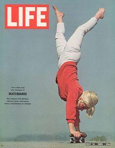 San Diego's Pat McGee, National Girls Champion, via LIFE goes skateboarding (1965).