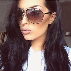 2a072dc20da Renee Jhane LLC. Gold Aviator SunglassesStylish ...