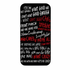 Hunter Hayes Quotes Lyric iPhone 5/5s Case