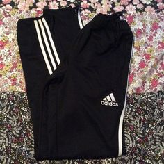 Adidas Soccer pants (youth) Good condition. Fits Medium woman. Two pocket zippers. Two Leg zippers Adidas Pants Track Pants & Joggers