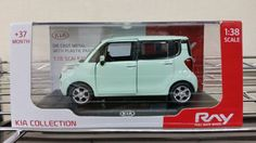 KIA Ray Aqua Mint 1:38 Diecast Miniature Display Case Included Front Door #Diecast