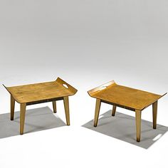 Abel Sorenson - Birch Tray Tables for Knoll, 1940