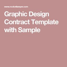 Graphic Design Contract Template with Sample