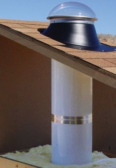 Solar tube sky light!! NEED this for middle bathroom.