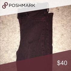 Burgundy jeans Hollister, skinny Hollister Pants Skinny