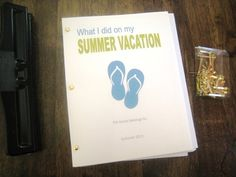 Free printable...summer vacay journal for kids (daily or weekly versions)