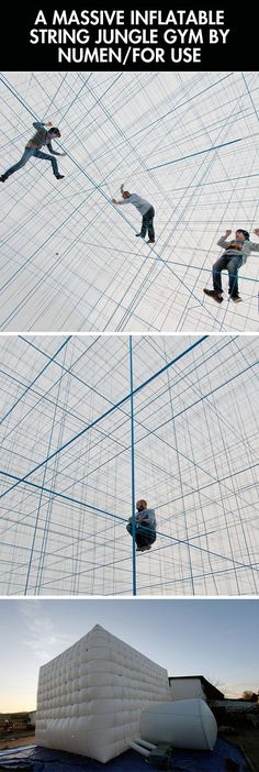 I'm torn between thinking this is the coolest thing ever or somebody is going to fall and suffocate from the strings