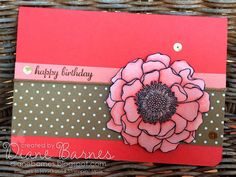 Stampin Up Blended Bloom  Blendabilities card by Di Barnes #stampinupau #colourmehappy