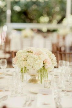 Outdoor Malibu Wedding at Calamigos Ranch from Figlewicz Photography - wedding centerpiece idea