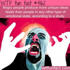 Angry people facts -  WTF fun facts