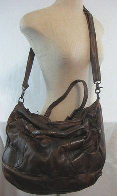 Asher Tote Brown Leather Handbag from Reptiles House by Free People w/Dust Bag #FreePeople #TotesShoppers