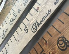 Growth Chart Ruler; Growth chart; wooden growth ruler; family name sign; wedding gifts for parents; family wedding gift; wedding gift ideas