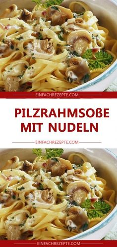 Ingredients 1 chicken breast fillet 1 onion 250 g mushrooms 250 ml cream salt Pf . - Ingredients 1 chicken breast fillet 1 onion 250 g mushrooms 250 ml cream salt pepper oil Side dish: - Sausage Recipes, Casserole Recipes, Meat Recipes, Pasta Recipes, Healthy Chicken Spaghetti, Spaghetti Squash Recipes, Chicken Pasta, Mushroom Cream Sauces, Mushroom Recipes