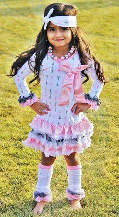 Girls boutique ruffle dress Girls valentines by Personalizedkiddie