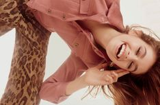 Kaia Gerber is all smiles in the fashion editorial