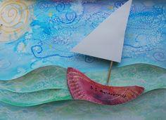 ocean Snacks for Preschoolers | Little red boat on a vast green sea | spackel