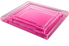 AVF Soiree Tray (Large) - Pink - Transitional Contemporary Mid-Century / Modern Trays