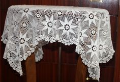 Hand Crochet Vintage Tablecloth  Square for table by glimmerbeauty, $65.00