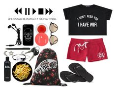 """Press Play"" by kellinquinnsbae ❤ liked on Polyvore featuring Aéropostale, Korres, Vans, Havaianas, Ray-Ban, IDEA International and Lanvin"