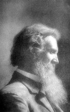 John Muir (1838-1914), popular y polifacético naturalista estadounidense de origen escocés, firme defensor del conservacionismo. (Public Domain) #miercolesretratos #EnciclopediaLibre