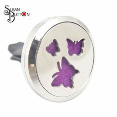 10pcs Silver 30mm Stainless Steel Butterfly  Aromatherapy Locket Essential Oil Diffuser Car Perfume clip Locket Charms Jewelry