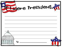 Best Kids Presidents Day Activities Images  Presidents Day  If I Was President Essay If I Were President Writing Paper