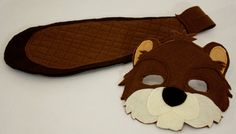 Bucky and Bev Beaver Felt Mask and Tail pretend by HuntingFaeries, $36.00