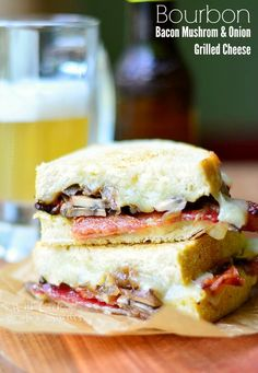 Bourbon Bacon Mushrom & Onion Grilled Cheese | from willcookforsmiles.com