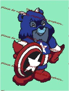 Superhero Bear Crochet Graph Pattern by StarrYarns on Etsy